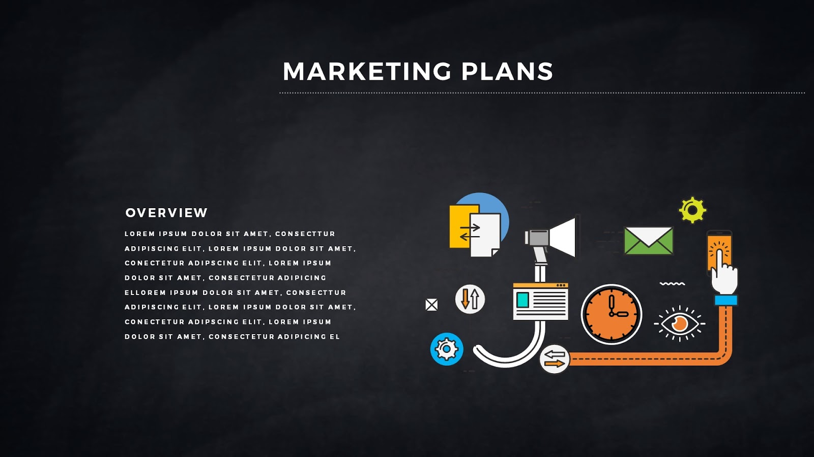 Infographic Marketing Plan Free PowerPoint Template