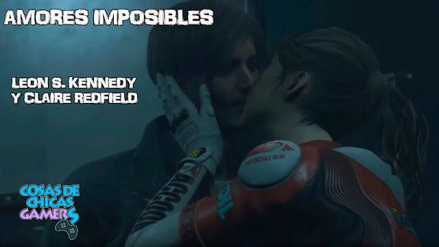 Leon y Claire amor imposible RE2 portada