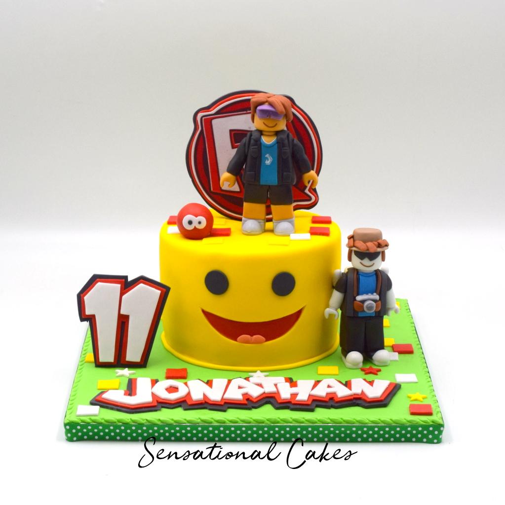 Boy Roblox Characters The Sensational Cakes Roblox Characters Lego Inspired Boys Theme Customized 3d Birthday Cake Singaporecake