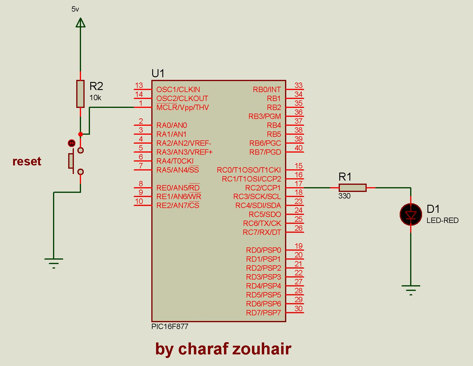 hight resolution of flashing led by microcontroller