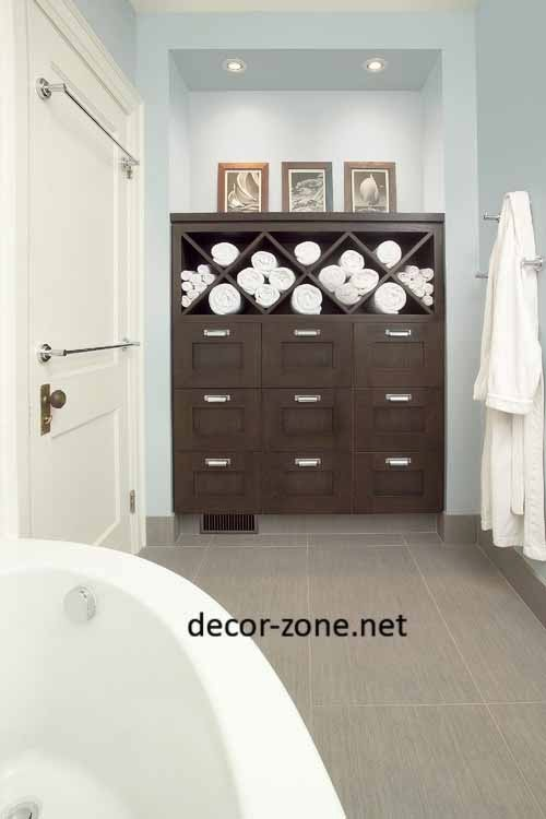 bathroom towel storage ideas, bathroom cabinets