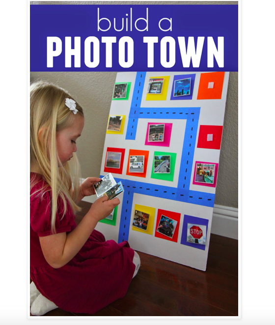 a photo of the blog post for the photo town