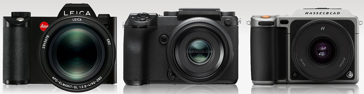Сравнение Leica SL, Fujifilm GFX ($6999) и Hasselblad X1D