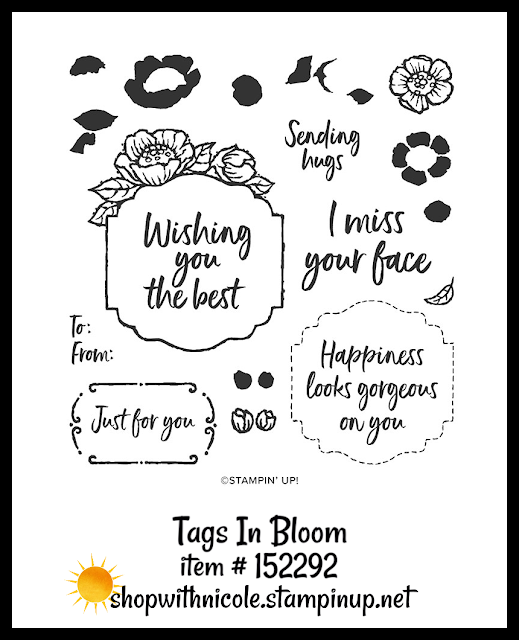 Tags In Bloom stamp set | item 152292 | Stampin' Up! Sale-A-Bration second release level 2 item