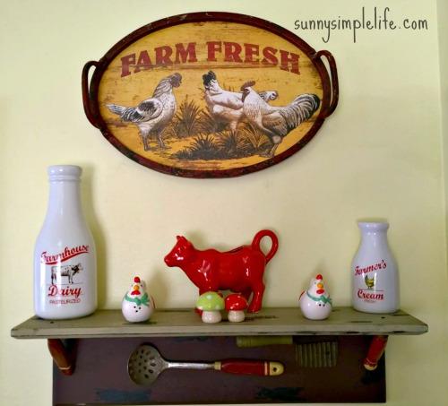 farm fresh sign, farmhouse kitchen