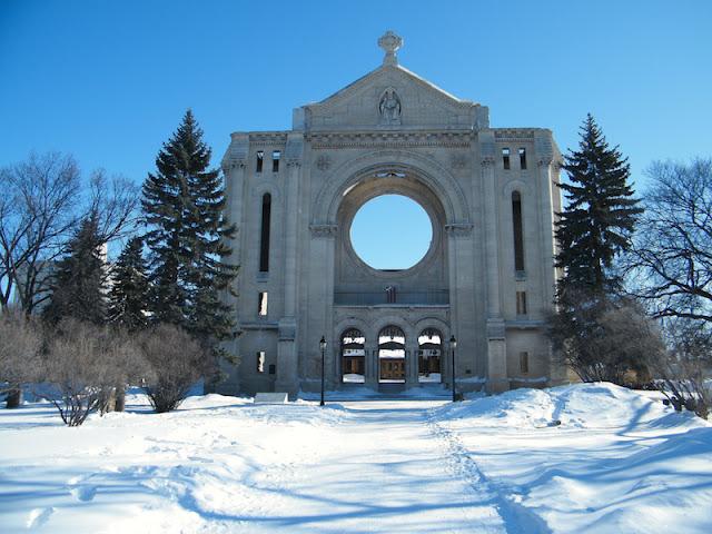 O bairro francês St. Boniface em Winnipeg