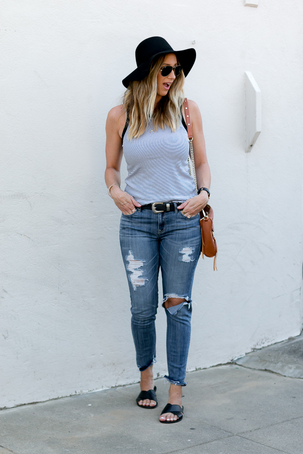 high waisted ripped jeans parlor girl