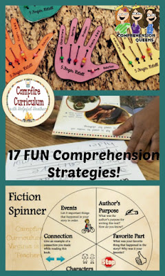 If you are looking for fun and attention grabbing comprehension strategies this post is for you!  You will be treated to 17 exciting comprehension strategies that can be implemented before, during, and after reading.