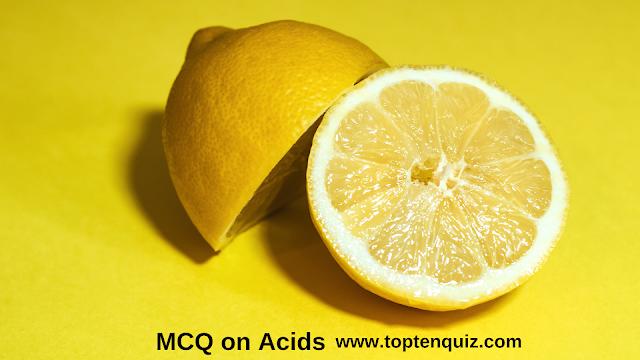 MCQ on Acids