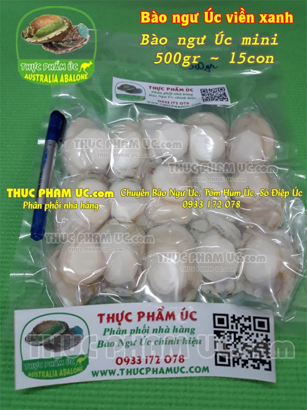 bào ngư Úc loại nhỏ mini thịt bào nhiêu tiền