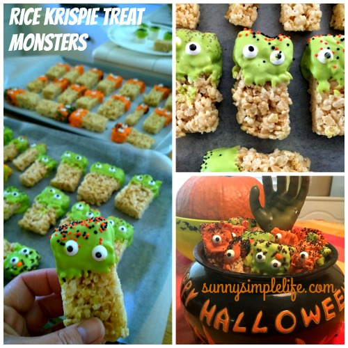 fall rice krispie treats, Happy Halloween bowl