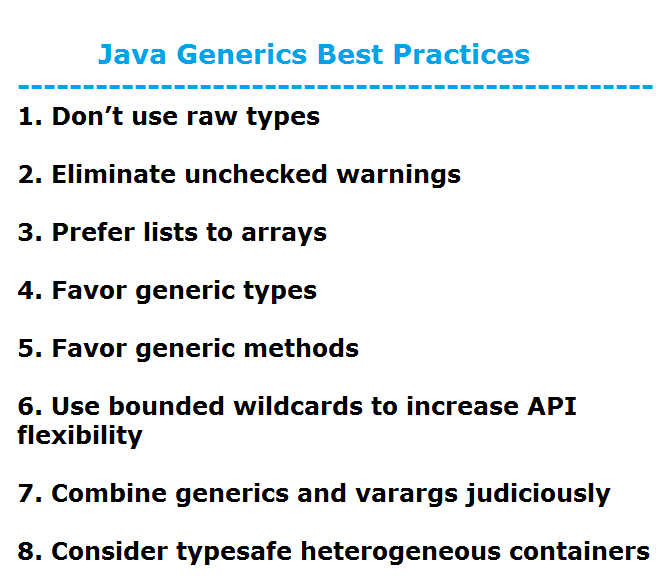 Free java generics tutorial for android apk download.