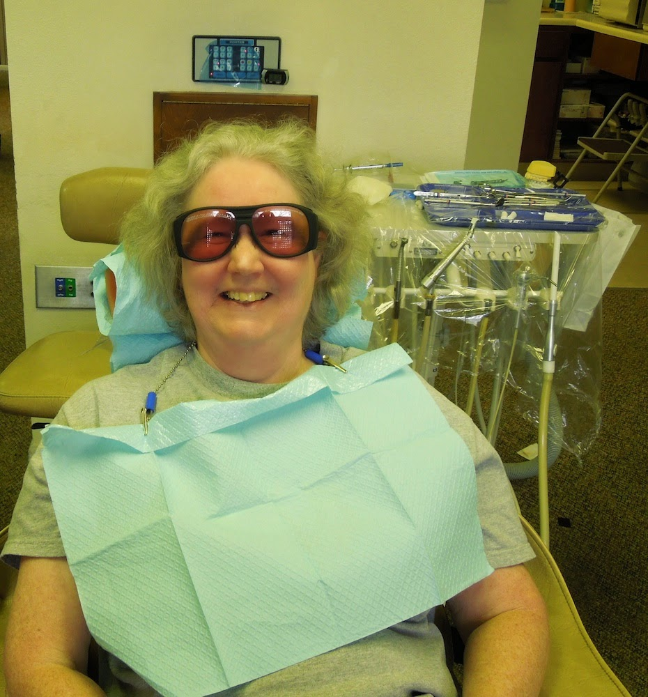 That's me in my googles, photo by dental assistant.