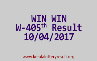 WIN WIN Lottery W 405 Results 10-4-2017