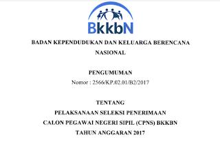 Penerimaan CPNS Terbaru Badan Kependudukan dan KB Nasional