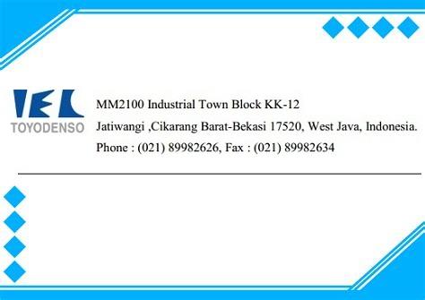 Info Lowongan Kawasan Mm2100 Operator produksi PT.Toyo Denso Indonesia