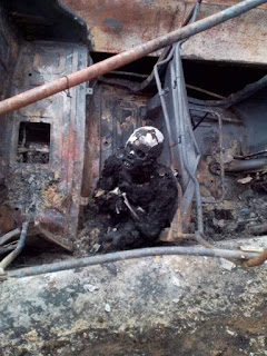 Six roasted to death, 1 injured as tanker catches fire after an accident with a tricycle in Calaba (Graphic photos)