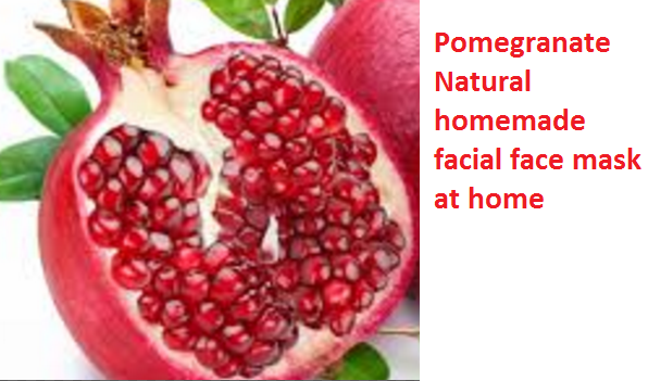 Pomegranate Natural homemade facial face mask at home