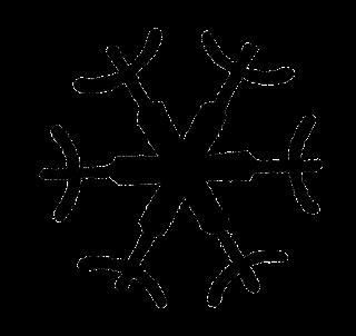 winter christmas snowflake printable image
