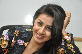 Actress Nikki Galrani Latest Pictures in Floral Jacket 0028