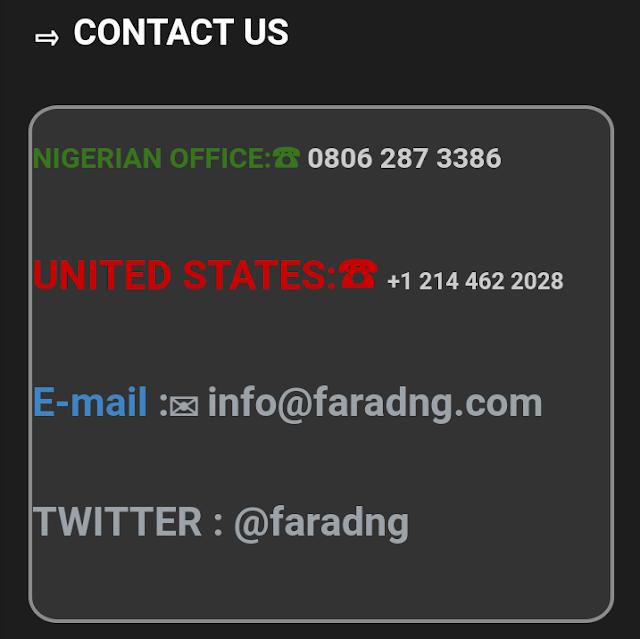 FARAD CONTRACTORS NIGERIA