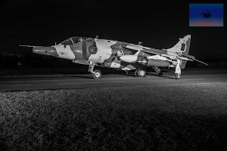 RAF Hawker Siddeley Harrier GR3 XZ991 winter camo Cosford