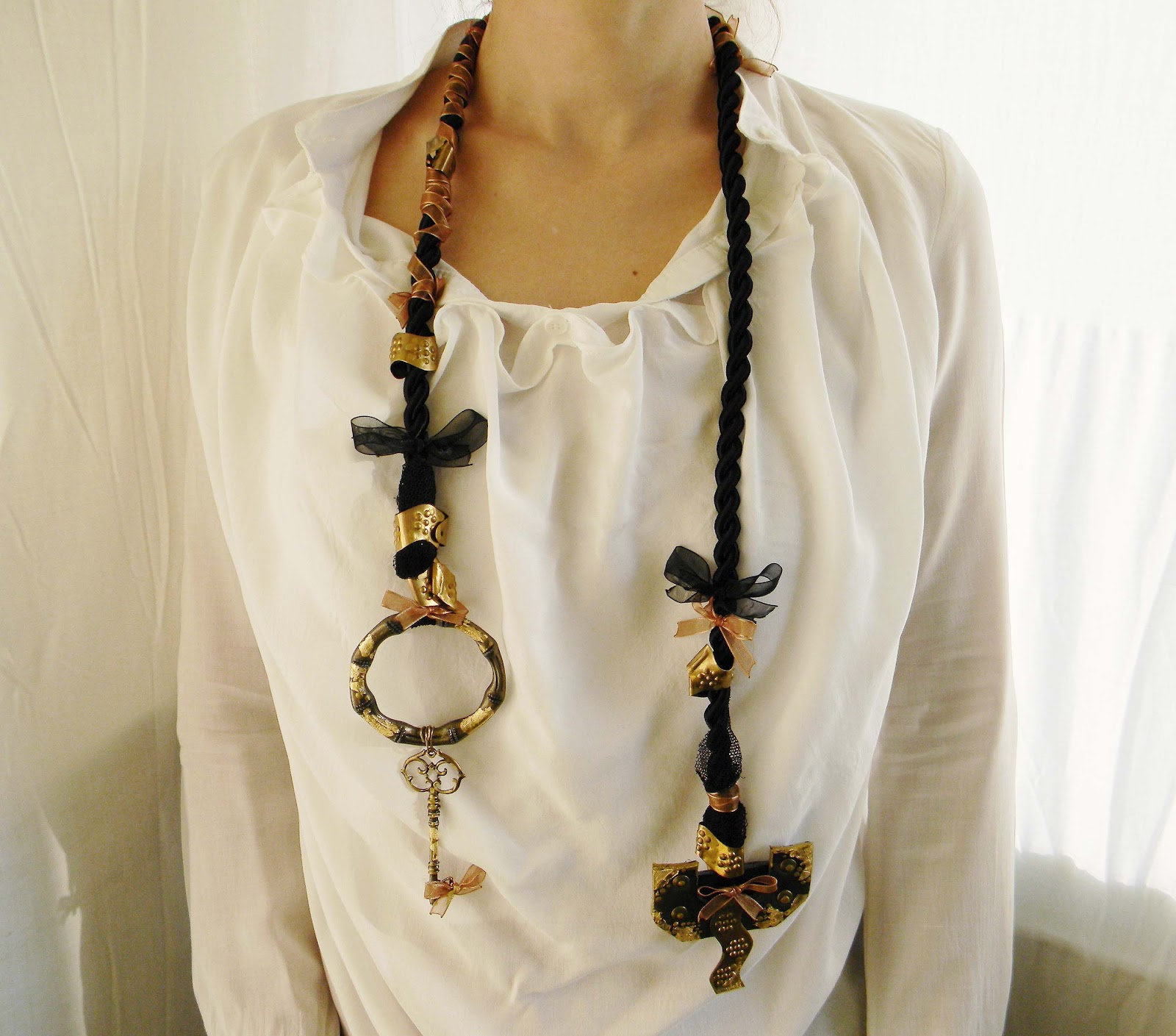 """Asymmetry"" Ancient Look Necklace"