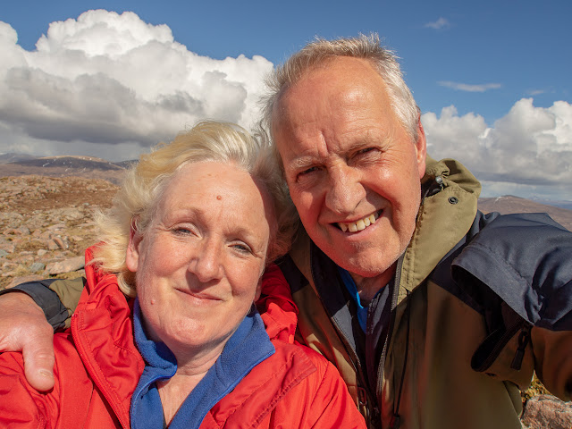 Photo of Phil and I on top of a mountain in Glencoe, Scotland