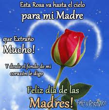 feliz dia de la madre que esta en el cielo