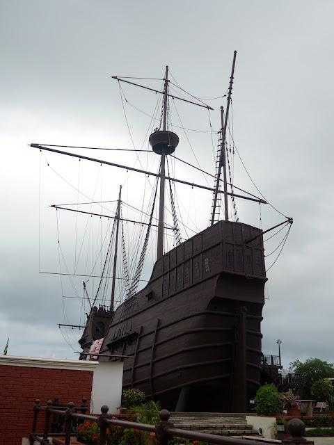 Portuguese ship replica in Melaka, Malaysia