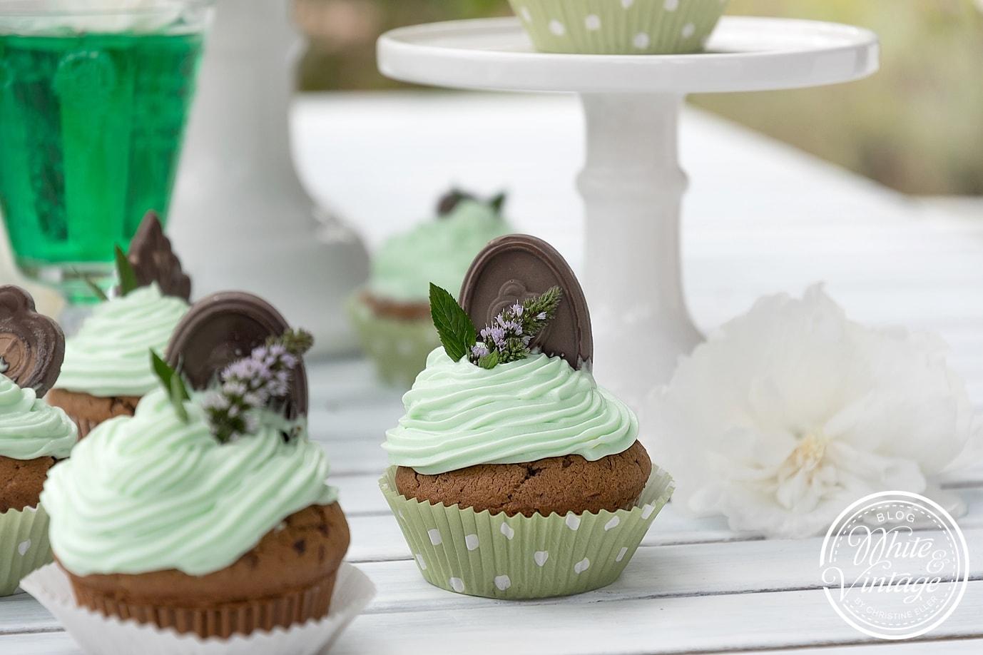 Rezept Schoko-Pfefferminz-Cupcakes