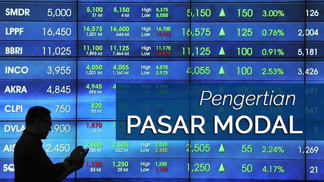 Pengertian Pasar Modal menurut para ahli