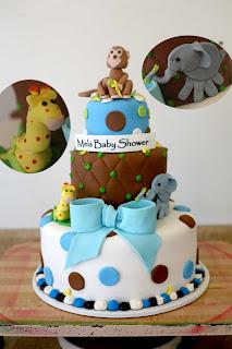 Hector S Custom Cakes Baby Shower 3d Safari Animals Custom