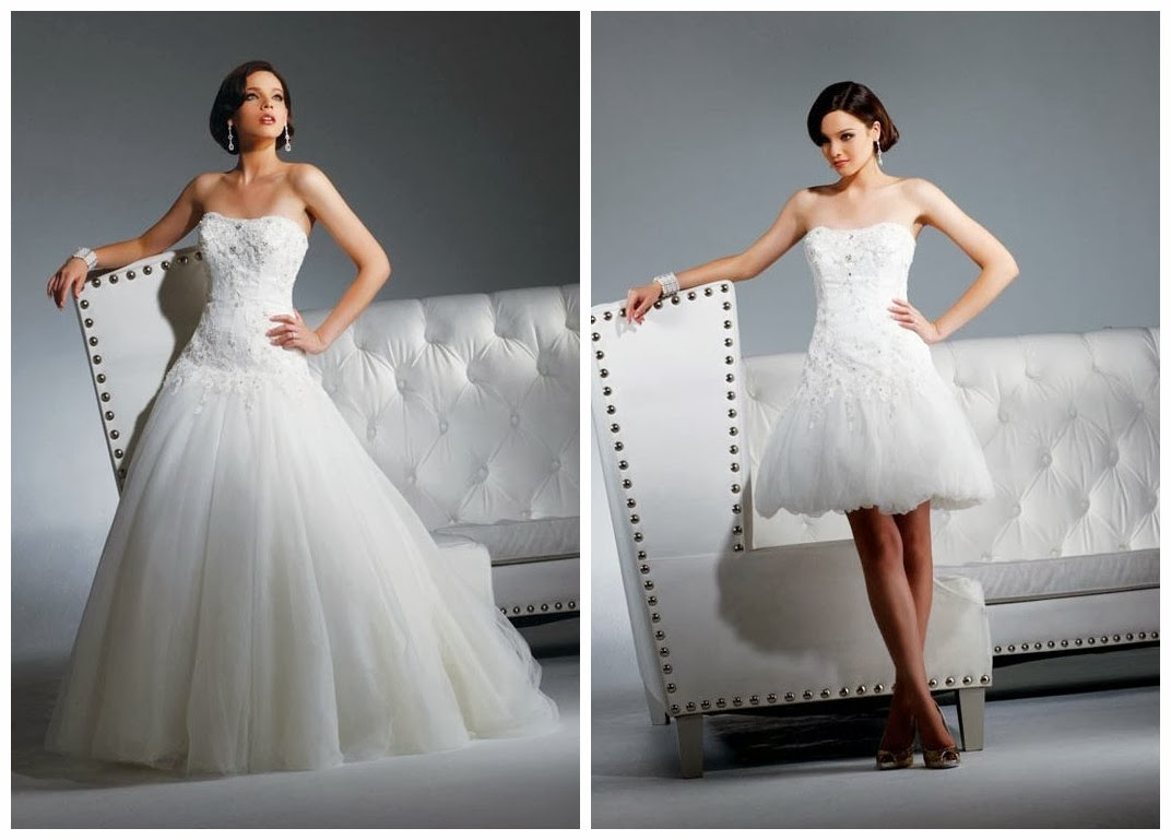 WhiteAzalea Ball Gowns: Trendy 2 In 1 Wedding Dress-Ideal