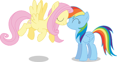 """Fluttershy Rainbow Dash Noserub"" pic by simplyFeatherbrain (CC by-nc-nd 3.0)"