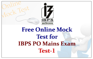 IBPS PO Mains 2015- Mock Test