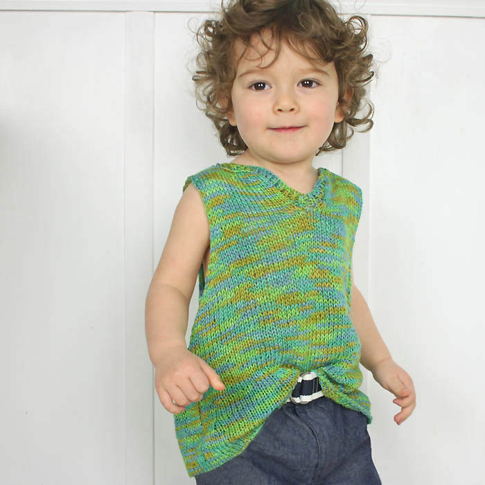Toddler Tank Top Free Knitting Pattern - Gina Michele