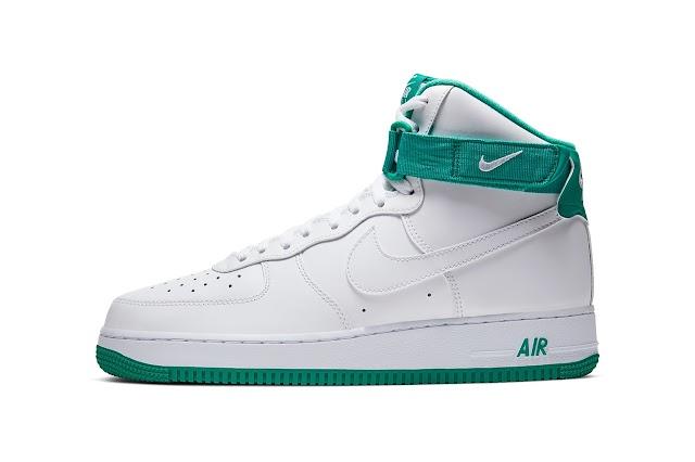 "«Nike Air Force 1 High» aparece en retro ""Neptune Green"""