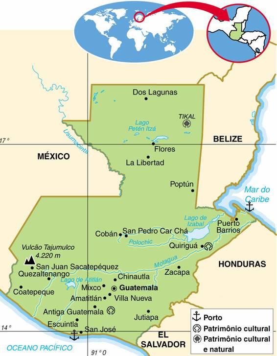 GUATEMALA, ASPECTOS GEOGRÁFICOS E SOCIOECONÔMICOS DA GUATEMALA