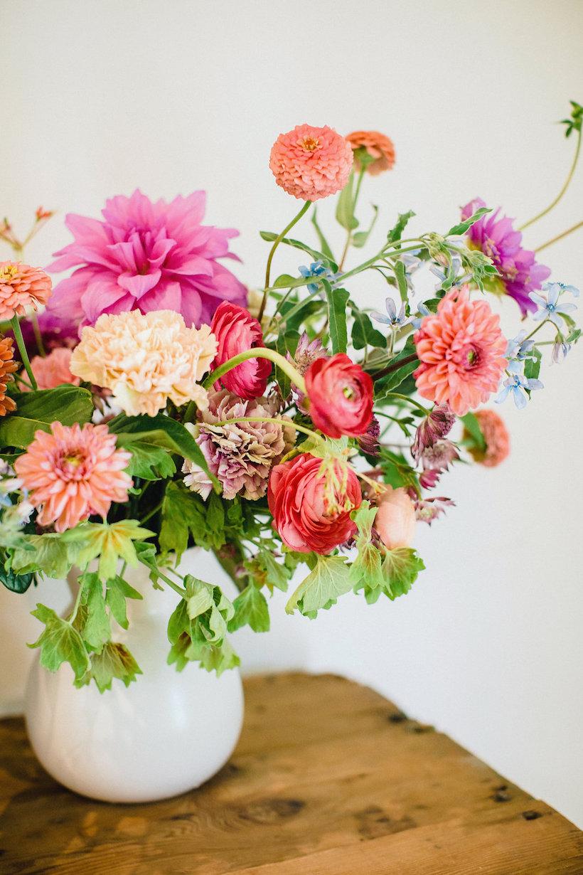 Colorful bouquet flowers