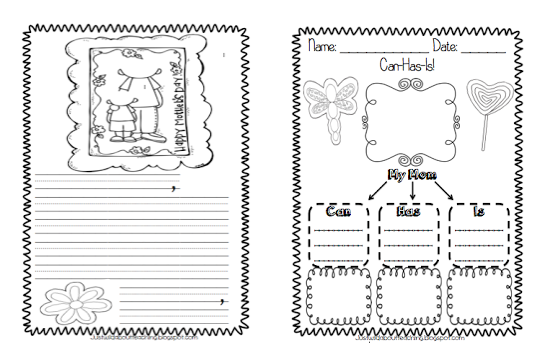 just wild about teaching a sweet mother 39 s day writing booklet craftivity. Black Bedroom Furniture Sets. Home Design Ideas