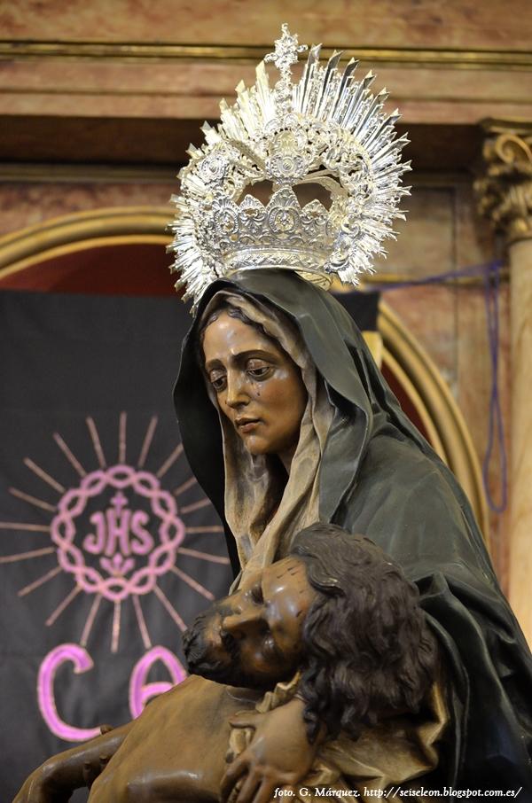 Virgen de la Piedad de la parroquia de San Martín. León. Foto G. Márquez