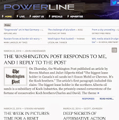March 22, 2014: @ PowerLine -- The EPIC takedown of WaPo