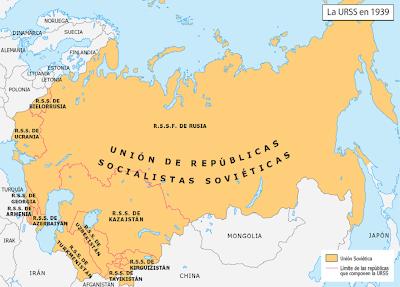 Resultado de imagen para la unión soviética en 1939