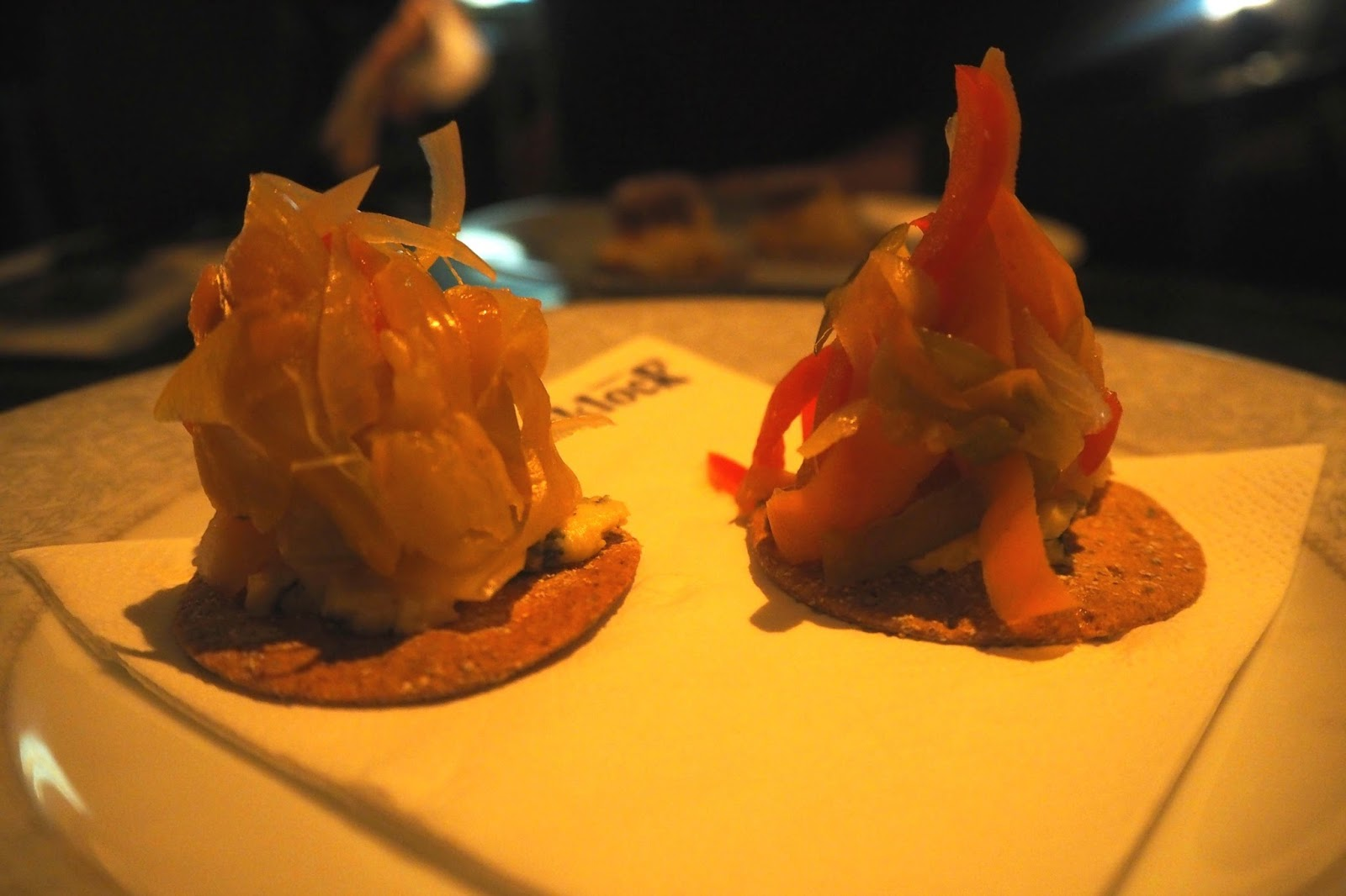 Crackers with meat on at Blacklock