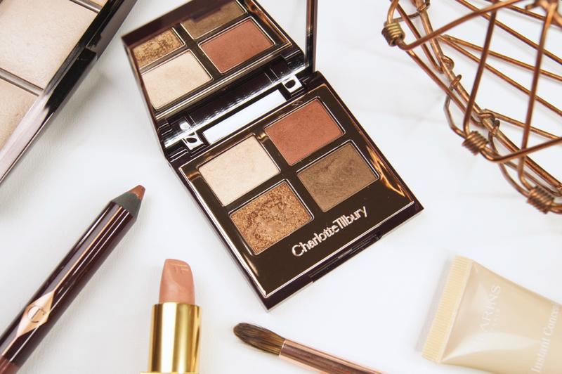charlotte tilbury dolce vita luxury eyeshadow palette review swatches premium warm golden tones great pigmentation high quality rust bronze burgundy smokey glitter