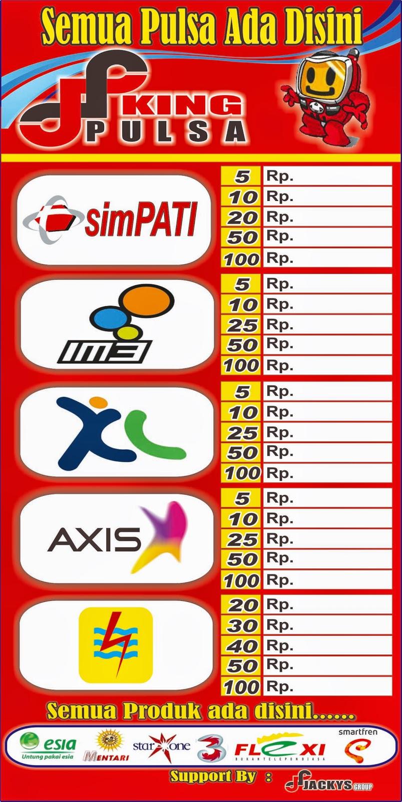 Download Spanduk Jual Pulsa Cdr - desain spanduk keren