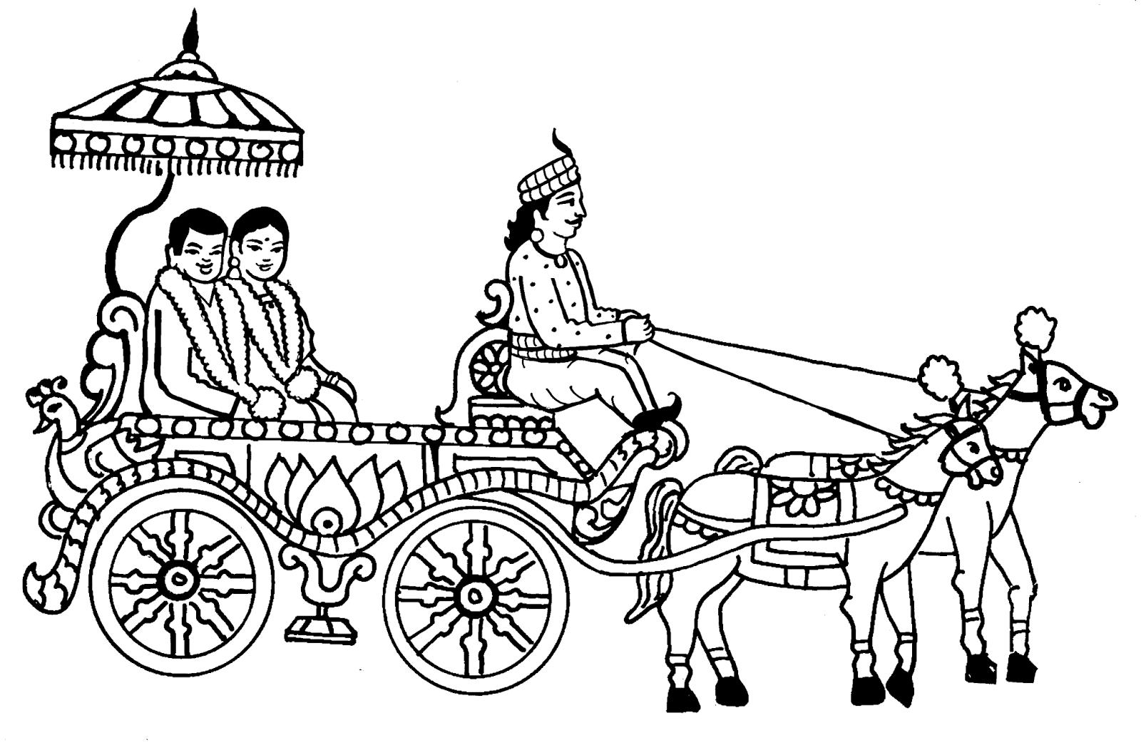 Tamil Cliparts Printing Line Art