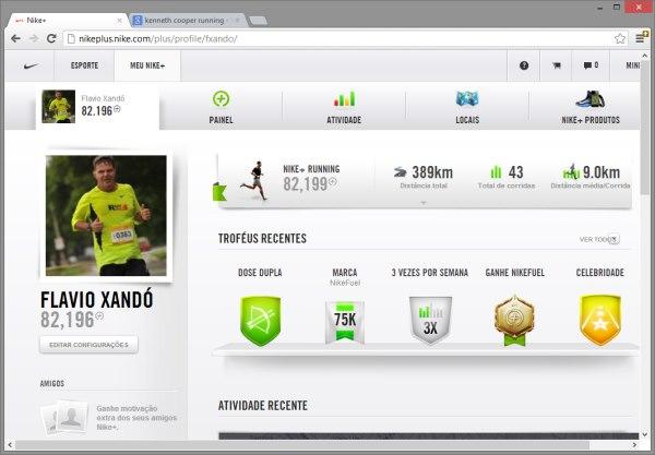 2e53afb06cb Site Nikeplus.com com os dados das corridas