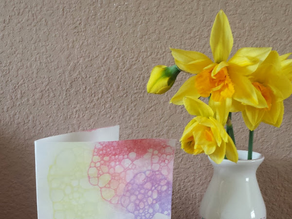 Bubble Art Thank You Cards